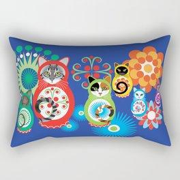 матрешка кошки - Catryoshka Rectangular Pillow