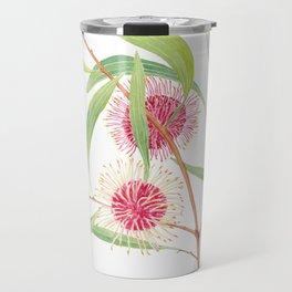 Pincushion Hakea (Hakea Laurina) watercolour; Australian flower Travel Mug
