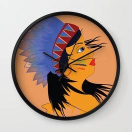 Away with the wind Wall Clock