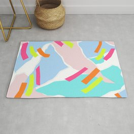 Pastel Paper with Neon Stripe Rug