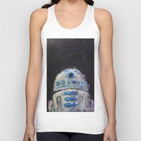 r2d2 Tank Tops featuring r2d2 by Thad Taylor Art