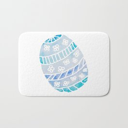 Easter Egg in Blue and Teal Bath Mat
