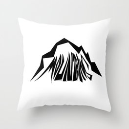 Mountains Oldschool Throw Pillow