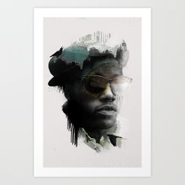 Nino Brown Art Print