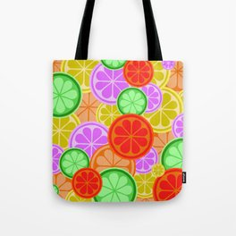 Citrus Explosion - A Pattern of Many Fruits from the Citrus Family Tote Bag