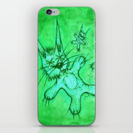 Record Cover for some Jazzed Rabbits, Greenish. iPhone Skin
