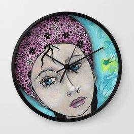 Blue Gypsy Girl Wall Clock