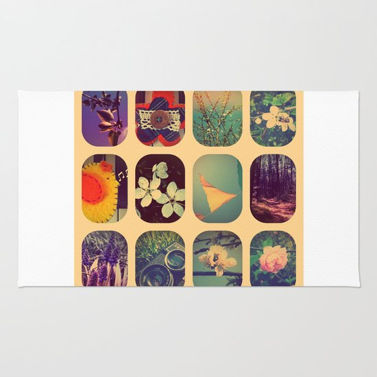 Spring collage Rug
