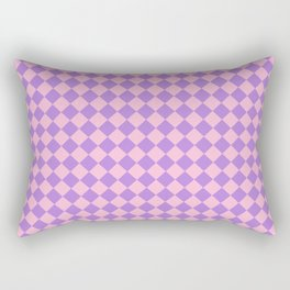 Cotton Candy Pink and Lavender Violet Diamonds Rectangular Pillow