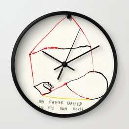 My Father trapped in his own house. Wall Clock