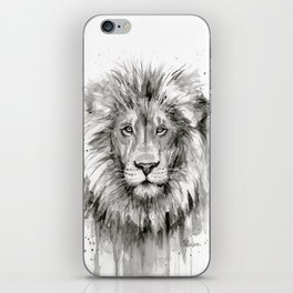 Lion Watercolor iPhone Skin