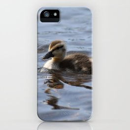Swimming Duckling iPhone Case