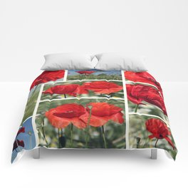 Poppies Collage Comforters