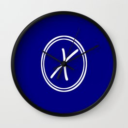 Monogram - Letter X on Navy Blue Background Wall Clock