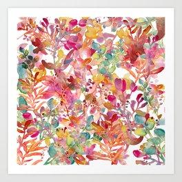 watercolor meadow Art Print