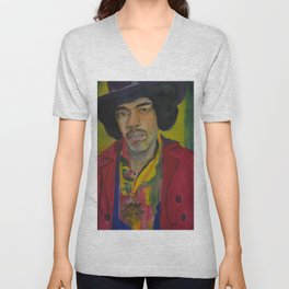Jimi Hendrix Unisex V-Neck