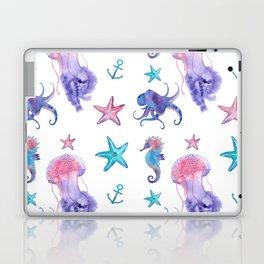 Watercolor Sea Life Laptop & iPad Skin