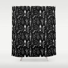 Accoutrements BLACK Shower Curtain