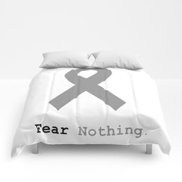 Fear Nothing: Silver Ribbon Awareness Comforters