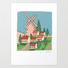 Yemin Moshe windmill Art Print