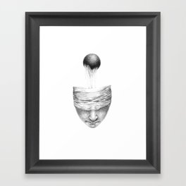get your head out of the covers... Framed Art Print