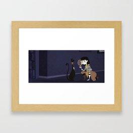 Girl Detective Framed Art Print