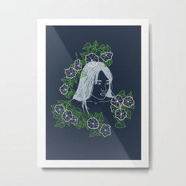 Moon Flower Metal Print