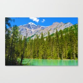 Mt. Robson and the Robson River in British Columbia, Canada Canvas Print
