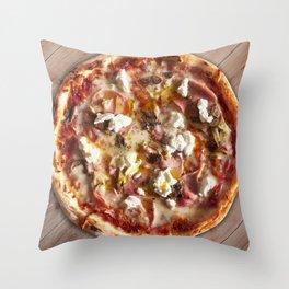 Pizza capricciosa Throw Pillow