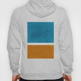 Rothko Minimalist Mid Century Modern Vintage Colorful Pop Art Colorfields Dark Teal Yellow Ochre Hoody