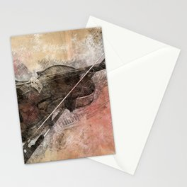 Sounds of music. Violin. Stationery Cards