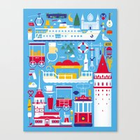 istanbul Canvas Prints featuring Istanbul by Tamer Koseli