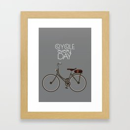Cycle Every Day, Framed Art Print