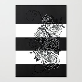 Inverted Roses Canvas Print
