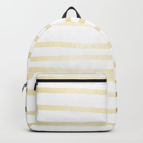 Simply Drawn Stripes Gilded Palace Gold Backpack