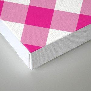 Gingham - Pink Canvas Print