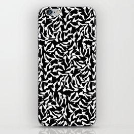 Shoes White on Black iPhone Skin