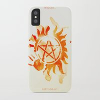 supernatural iPhone & iPod Cases featuring Supernatural by Rose's Creation