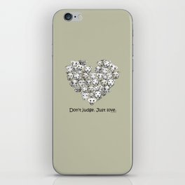 Just Love. (black text) iPhone Skin