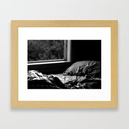 quiet morning Framed Art Print