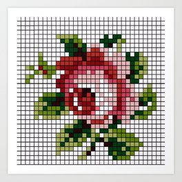 Shabby Chic Rose Art Print