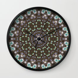 Glass Cathedral Medieval Builders Eight Wall Clock