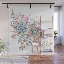 succulent watercolor 12 Wall Mural