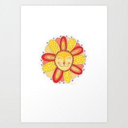 'Dandelion' Lion  Art Print