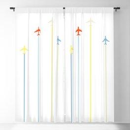 Retro Airplanes Blackout Curtain