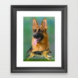 German Shepherd Breed Art Framed Art Print