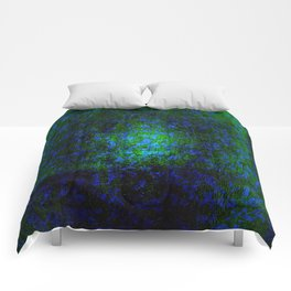 Abstract blue and green Comforters