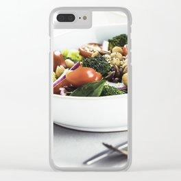 Healthy vegan energy boosting salad Clear iPhone Case