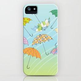 Dance of Umbrellas iPhone Case