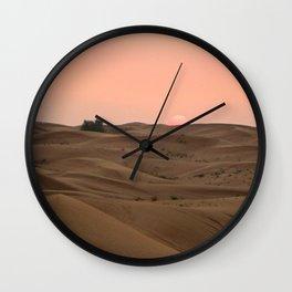 Arabian Desert Sunset Wall Clock